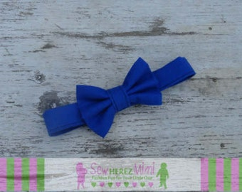 Custom Royal Blue, Navy Blue or Gray Bow Tie Sizes Infant, Child, Youth, Adult