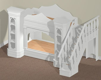 Digital Download: Arabian Nights Bunk (Twin Size) Bed Woodworking Plan