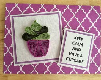 Keep Calm and Have a Cupcake card