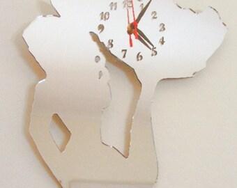 Mermaid Clock Mirror - 2 Sizes Available