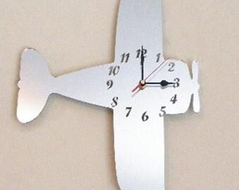 Bi-Plane Mirror Clock - 2 Sizes Available