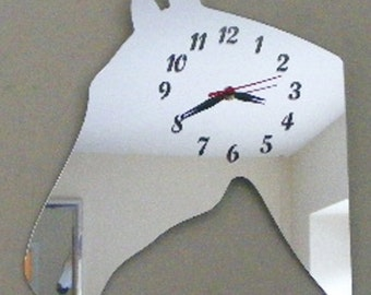 Horse's Head Clock Mirror - 2 Sizes Available
