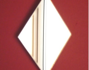 Diamond Shaped Mirrors - 5 Sizes Available. Also available in packs of 10 Crafting Mirrors