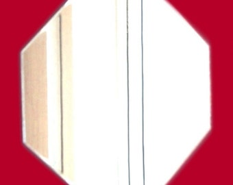Octagon Shaped Mirrors -  5 Sizes Available Singles. (Crafting mirrors also available in packs of 10)