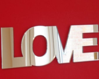 Love Mirrors - 5 Sizes Available - in Contemporary Style