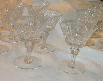 "Baccarat ""Piccadilly"" Cut Glass Stemware"