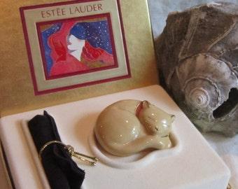 Vintage ESTEE LAUDER Solid Perfume Cat