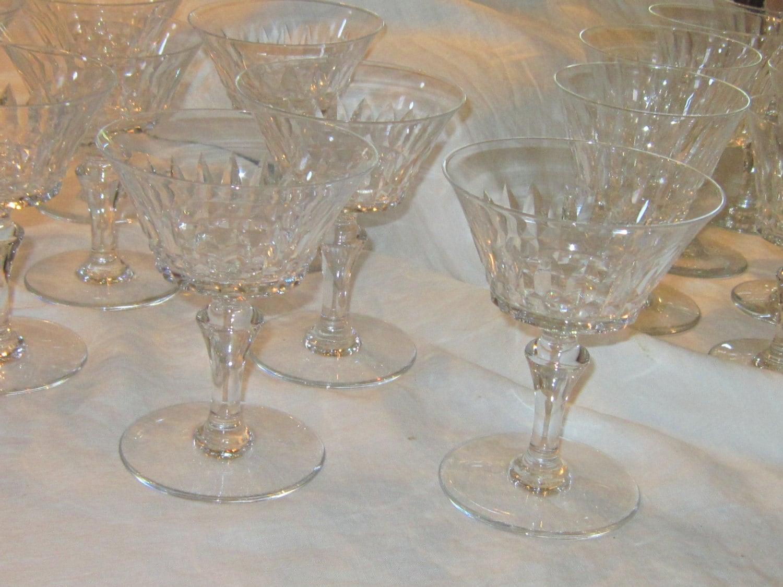 Baccarat piccadilly cut glass stemware - Baccarat stemware ...