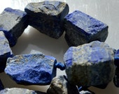 Natural Blue Lapis Rough Shape Graduated size Approx.18x10mm-25x20mm Full Strand