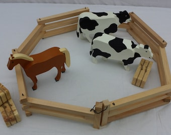Wooden Toy Corral / Fence