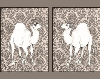Camel Wedding Card