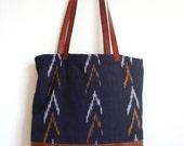 Tote bag navajo style navy blue