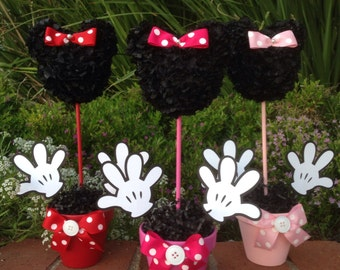 Minnie Mouse Centerpiece, 12 Inch     Minnie Mouse Party Decorations, Baby Minnie Mouse Centerpiece