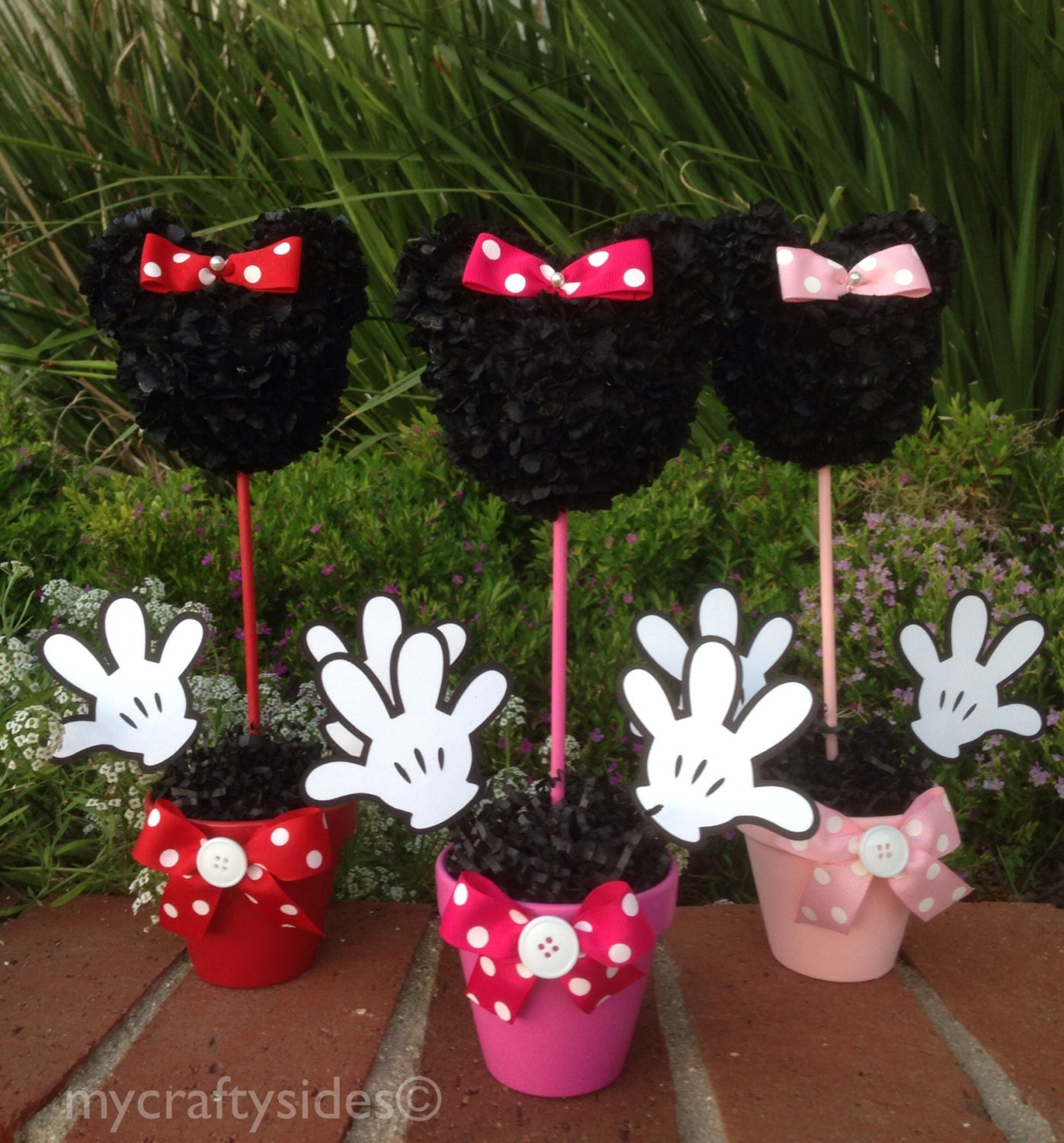 Minnie mouse centerpiece inch party