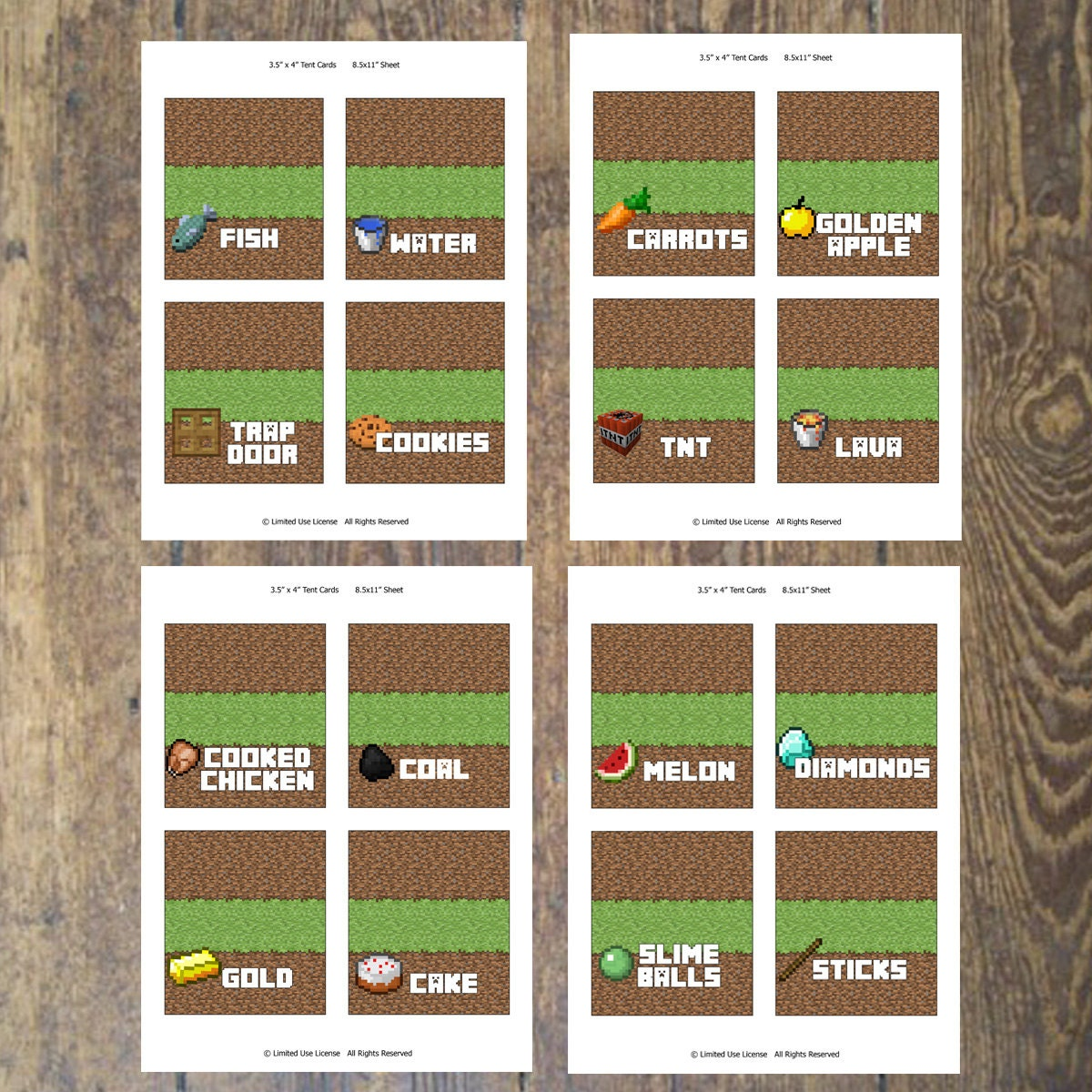 Minecraft Labels For Food