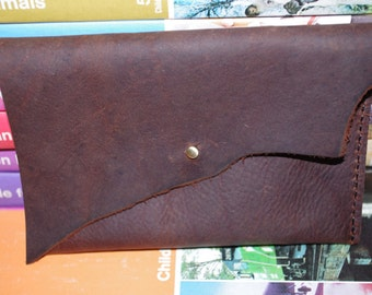 Small Handmade Leather Clutch