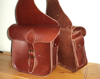 Handcrafted Latigo Leather Saddle Bags