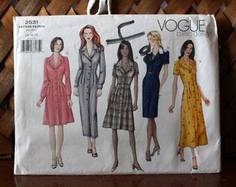 Vogue 2531 Size 14-16-18 Uncut: Misses' Dress Sewing Pattern