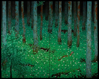 "Katayama Bokuyo : ""Mori (Forest)"" (1928) - Giclee Fine Art Print"