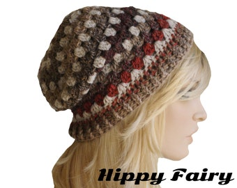 Autumn Fall Brown Womans slouch beanie