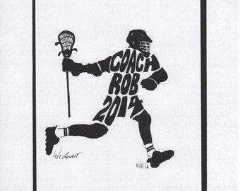 Personalized Sport Figure -  Lacrosse Coach