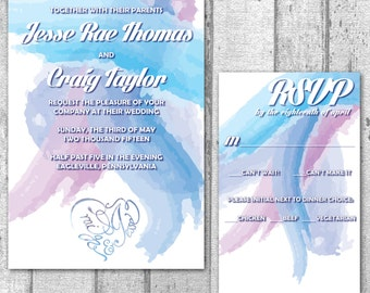 Watercolor Wedding Invitation Suite *DEPOSIT*