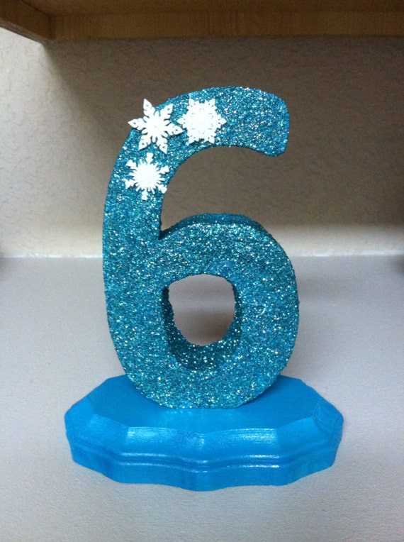 Items similar to glitter number centerpiece with base in for Glitter numbers for centerpieces