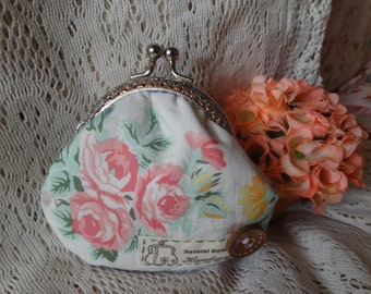 Elegant Handmade Coin Purse --roses Retro style