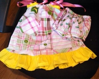 John Deere Pillowcase Dress and Bloomers