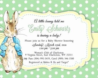 Peter Rabbit Shower Invitation