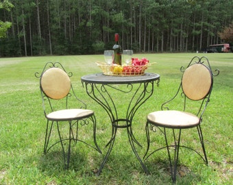 French Bistro Table And Chairs bistro set | etsy