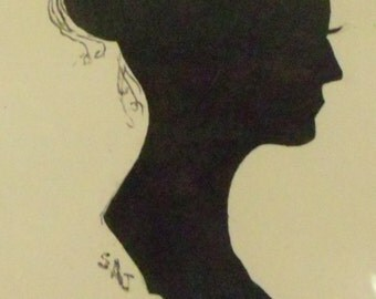 Silhouette Lady with Bun