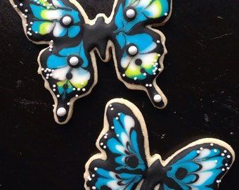 Blue Butterfly Cookies