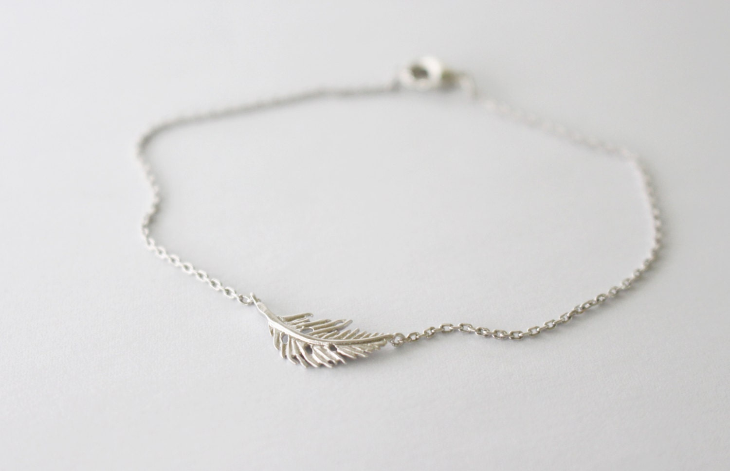 feather bracelet silver by kaiandmi on etsy