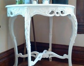 CLEARANCE  Beautiful Carved Wood Antique Table,  End table or Side Table