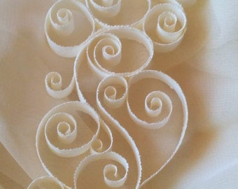 Paper quilling, Quilled Snowflake, Holiday, Christmas, Wedding Decor, Ivory, off white, white