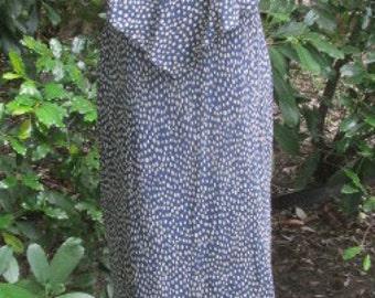 Adrianna Papell 90s silk polka dot long dress size 8