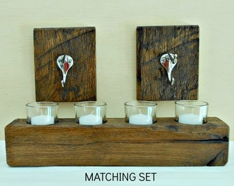 Chrome candle rack etsy for Matching bedroom and bathroom sets