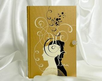 Pride and Prejudice by Jane Austen Book Clutch Purse -  Cream, Gold, Black, White