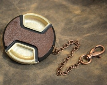 GOLD - CameraPunk™ Lens Cap DELUXE with chain
