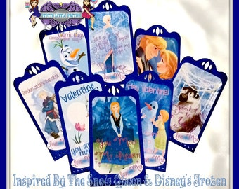 Frozen-inspired School Valentine's Day Cards - Fully Assembled - Classroom - Be Mine - Girls - Friends - Celebration - Greetings