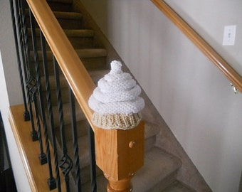Fun and Delicious - Vanilla Soft Serve Ice Cream Knitted Baby Hat