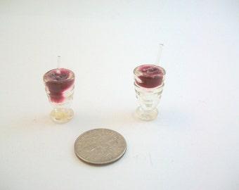 Miniature Drink, Miniature Milkshake, Miniature Glass, Miniature Root Beer Float, Dollhouse Drink, Dollhouse Milkshake, Dollhouse Glass