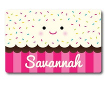 Kids Personalized Placemat, Kids Cupcake Gifts, Girls Birthday Gifts