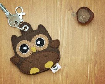 Baby Eule Schlüsseltasche Schlüsselanhänger