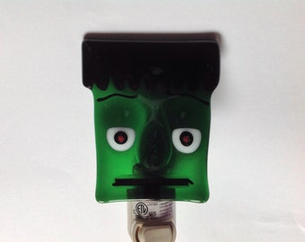 Fused Glass Frankenstein Monster Halloween Night Light