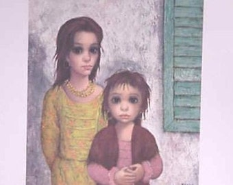 Walter (Margaret) Keane Lithograph Print Vintage 1960's The Gypsies FREE Bonus Print With Purchase