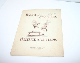Vintage Dance of The Cobblers 4 page piano sheet music 1934