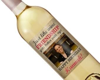 Birthday Gift - Birthday Wine Label - Personalized Wine Label - Custom Wine Label