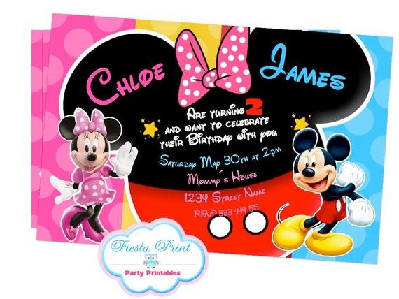 Tarjetas de Invitación Fiesta de Minnie Mouse 1 año